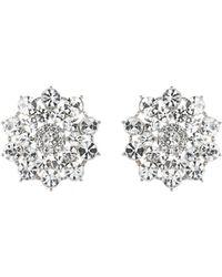 Mikey - London Large Crystal Stones Flower Stud Ear - Lyst