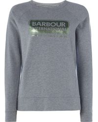 Barbour - Exclusive Bearings Sweatshirt With Foil Logo - Lyst