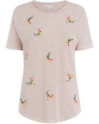 Warehouse   Tropical Bunch Embroidered Tee   Lyst