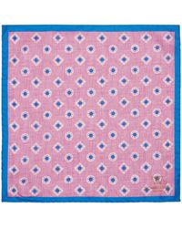 Richard James - Textured Diamond Silk Pocket Square - Lyst