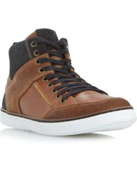 Dune - Sven Leather Hi-top Trainers - Lyst