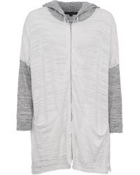 French Connection | Klint Stitch Knit Hooded Sweatshirt | Lyst