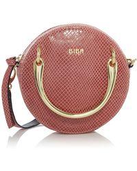 Biba - Spencer Mini Circle Leather Bag - Lyst