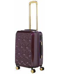 Biba - Logo Emboss Purple 8 Wheel Medium Suitcase - Lyst