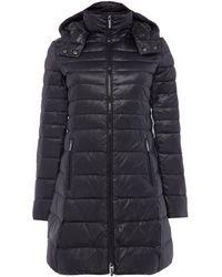 Armani Exchange - Long Padded Coat In Black - Lyst