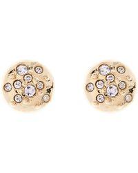 Karen Millen - Gold & Crystal Sprinkle Stud Earrings - Lyst