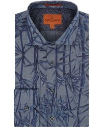Simon Carter | Chambray Bamboo Print Harrison Shirt | Lyst