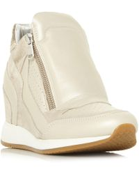 Geox - Nydame Zip Side Wedge Trainers - Lyst