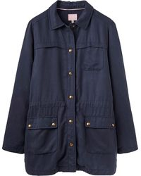 Joules Safari Jacket With Large Front Pocket - Blue