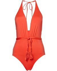 Seafolly | Deep V Malliot Swimsuit | Lyst