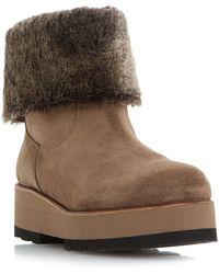 Dune Black - Rome Flatform Ankle Boots - Lyst
