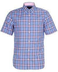 Eden Park - Check Cotton Shirt - Lyst