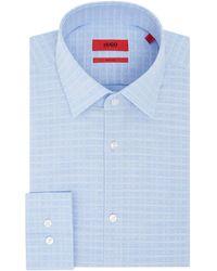 HUGO - Men's Jenno Slim Fit Grid Check Shirt - Lyst