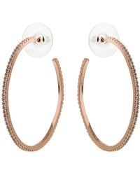 Mikey - Half Large Hoop Cubic Earring - Lyst