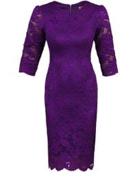 Jolie Moi - Scalloped Lace Bodaycon Dress - Lyst
