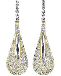Mikey - Slim Eclipse Studded Long Drop Earring - Lyst