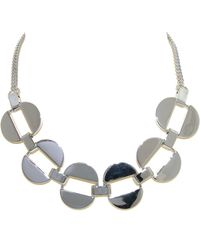 Monet - Polished Silver Oval Link Necklace - Lyst