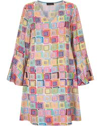 James Lakeland - Print Bell Sleeve Dress - Lyst