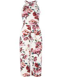 Ariella | Foral Print Wide Leg Jumpsuit | Lyst