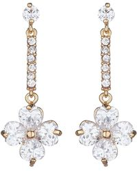 Mikey - Daisy Flower Long Drop Earring - Lyst