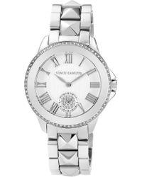 Vince Camuto - Silver Bracelet Watch - Lyst