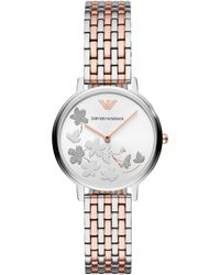 Emporio Armani - Women`s Two-tone Fashion Bracelet Watch - Lyst