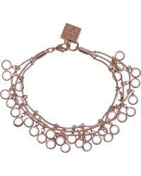 Anne Klein - 3 Row Shaky Bracelet - Lyst