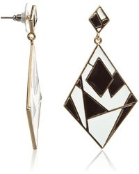 Maiocci Collection - Black And White Geometric Earrings - Lyst