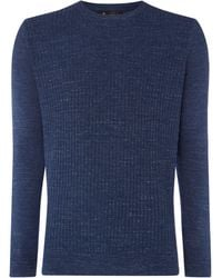 Label Lab - Men's Jackson Ribbed Crew Neck Knit - Lyst