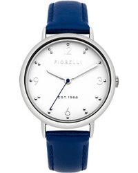 Fiorelli - Ladies Blue Leather Strap Watch - Lyst