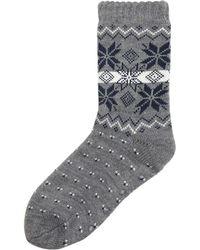 Howick | Men's 1 Pack Fairisle Slipper Sock | Lyst