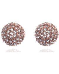 Anne Klein - Pave Cubic Zirconia Drop Earrings - Lyst
