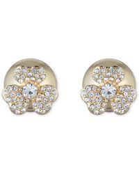 Anne Klein - Front Back Flower Earrings - Lyst