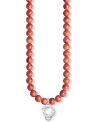 Thomas Sabo - Charm Club Red Coral Beaded Charm Necklace - Lyst