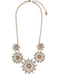 Accessorize - Miriam Pearl Flower Statement Necklace - Lyst