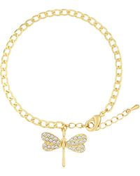 Aurora Flash | Gold Plated Bracelet With Crystal Charm | Lyst