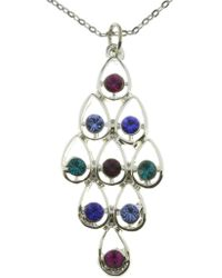 Indulgence Jewellery - Indulgence Multi Colour Crystal Pendant - Lyst
