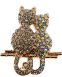 Indulgence Jewellery - Indulgence Two Cats Brooch - Lyst
