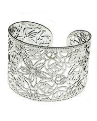 Indulgence Jewellery - Indulgence Silver Plated Filligree Cuff - Lyst