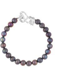 Dower & Hall - Silver Peacock Pearl Bracelet - Lyst