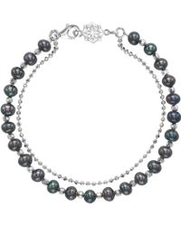 Dower & Hall - Silver And Blue Pearl Orissa Bracelet - Lyst