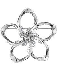 Ted Baker - Belvas Silver Crystal Blossom Brooch - Lyst