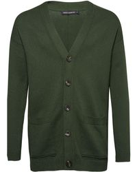 French Connection - Men's Overdyed Tape Cotton Cardigan - Lyst