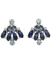 Jacques Vert - Ombre Blues Stud Earrings - Lyst