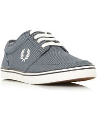 Fred Perry - Stratford Chambrey Lace Up Trainers - Lyst