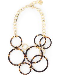 Jaeger - Jennifer Tortoiseshell Circles Necklace - Lyst