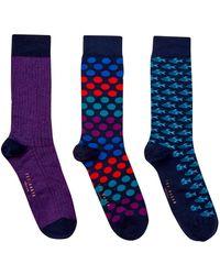 Ted Baker - Men's 3pk Sock Set - Lyst