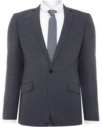 Kenneth Cole - Jonathon Sb1 Textured Notch Lapel Suit Jacket - Lyst