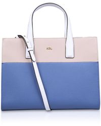 Kurt Geiger - New Saff London Tote In Blue Pale Combination - Lyst
