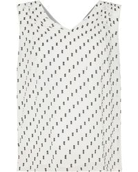 Ellen Tracy - Sleeveless Textured Chiffon Top - Lyst